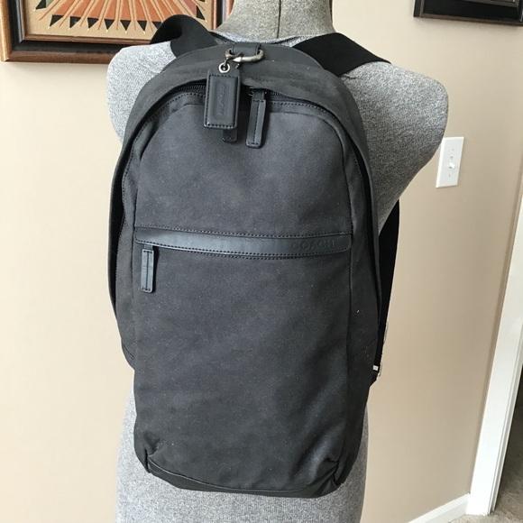 491166a763 Coach Other - COACH F70930 Camden Black Canvas Utility Pack Bag